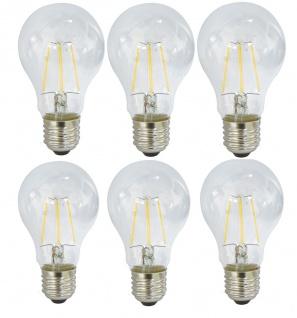 6er Set LED Filament Fadenlampe Glühbirne 4 Watt E27 Warmweiß EEK A+ 400 Lm, NEU