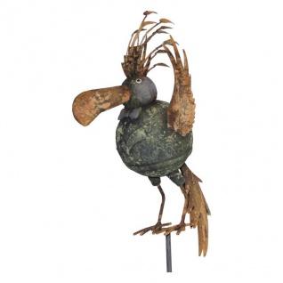 Dekostecker Vogel bunt Garten Terrassen Deko Ambiente Beetstecker Metall