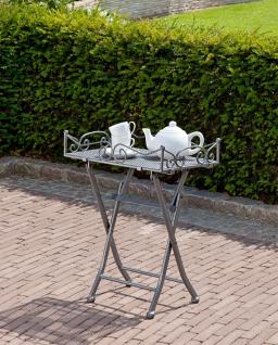 Beistelltisch Dekotisch Terrassentisch Gartentisch klappbar Tabletttisch