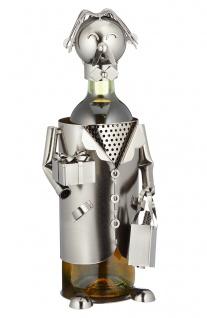Flaschenhalter Weinflaschenhalter Metall Skulptur Gratulant Figur lustige Deko