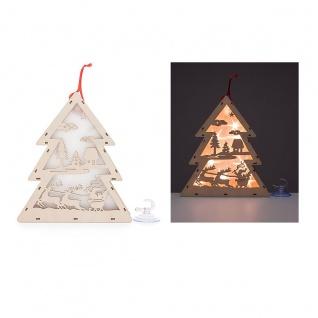 LED Holz Tannenbaum mit Hologramm-Folie 3D-Effekt LED-Lichterkette und Timer - Vorschau 2
