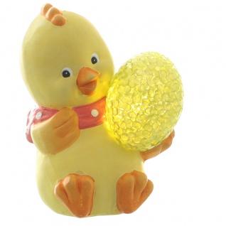 Deko-Figur Küken klein mit LED-Beleuchtung, Osterdeko, Oster-Küken, Tischdeko