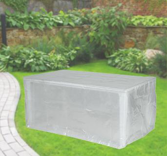 Komfort Schutzhülle für rechteckige Gartentische 220x100x75 cm transparent