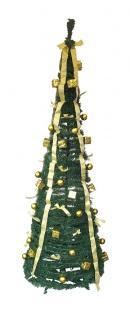 Weihnachtsbaum künstlich in 60 Sekunden aufgebaut und fertig geschmückt in gold
