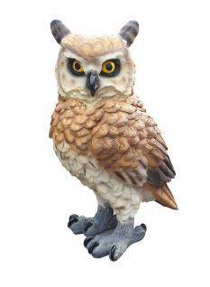 Eule Dekofigur Gartendeko Tierfigur Kautz Uhu Greifvogel 29 x 17 x 20 cm