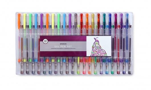 Eparon 40 Stück Gel-Stifte Gelschreiber Glitzer Pastell Metallic Neon Standard - Vorschau 1