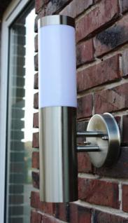 Edelstahl Außenlampe mit LED Leuchtmittel 7 Watt Außenleuchte Wandlampe NEU - Vorschau 3