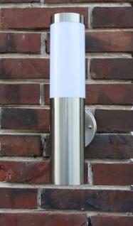 Edelstahl Außenlampe mit LED Leuchtmittel 9 Watt Außenleuchte Wandlampe