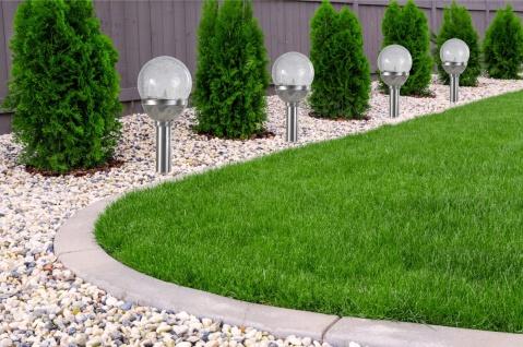 2er Set Kristallglas Premium Solarlampe Leuchte LED Edelstahl Gartenkugel - Vorschau 3