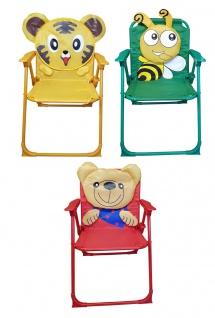 Kinder-Klappstuhl Kinderstuhl Campingstuhl Gartenstuhl versch. Motive wählbar
