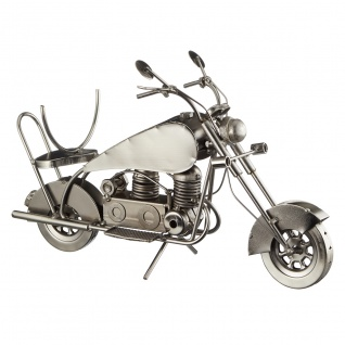 Flaschenhalter Weinflaschenhalter Motorrad Metall Figur Skulptur Deko Geschenk