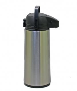 Isolierkanne Pumpkanne Airpot Thermoskanne Kaffeekanne Edelstahl 1, 9 Liter