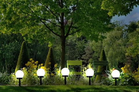 5er Set LED Solarlampe, Wegeleuchte, Solarleuchte mit Erdspieß, Gartenbeleuchtung - Vorschau 2