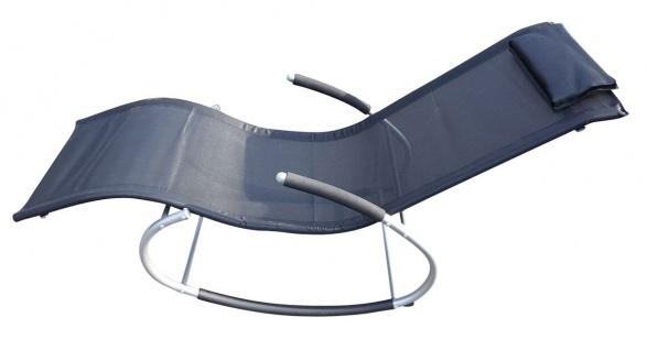 Gartenliege Schaukelliege Sonnenliege Relaxliege Liegestuhl mit Kopfkissen
