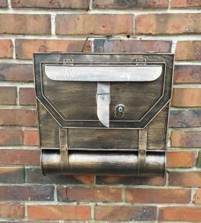 Briefkasten Tasche Retro mit Zeitungsrolle Postkasten Zeitungsrohr Metall