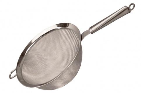 Sieb rostfrei Ø 20 cm Edelstahl Küchensieb fein Seiher Durchschlag Nudelsieb