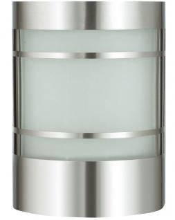 Wand-Außenleuchte Edelstahl und Glas inkl. LED Energiesparlampe 9 Watt Wandlampe