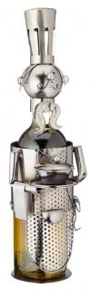 Flaschenhalter Weinflaschenhalter Metall Skulptur Figur Küchenchef lustige Deko