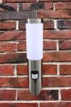 Edelstahl Außenlampe Fackel Hoflampe Lampe mit Bewegungsmelder