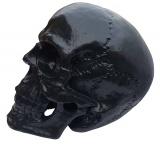 Totenkopf groß Skulptur Skull Totenschädel Gothic Mystik Schädel Deko schwarz