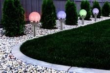 4er Set Premium Solarlampe Leuchte LED RGB Farbwechsel Edelstahl Gartenkugel