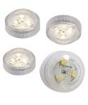 4er Set Teelichter mit je 3 SMD-LEDs weiß Batteriebetrieb wasserdicht Tauchlicht LED-Kerze Partydeko
