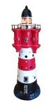 Leuchtturm Roter Sand mit Beleuchtung 220 Volt Gartendekoration Teich Maritim