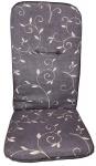 Sitzauflage hoch Sesselauflage Hochlehner Gartenstuhlauflage anthratzit 120x48cm
