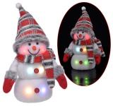 Deko Schneemann mit RGB Farbwechsel LED-Beleuchtung, Weihnachtsdeko, Dekofigur