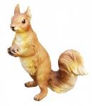 Dekofigur Eichhörnchen stehend mit Eichel Garten Deko Tierfigur Innen & Außen