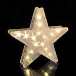 LED Deko Stern mit Hologrammfolie 3D-Effekt, Weihnachtsstern, LED-Lichterkette