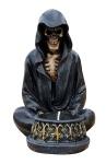 Dekofigur Skelett im Umhang Teelichthalter Totenkopf Gothic Mystik Fantasy Geist