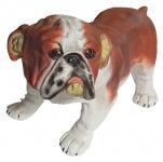 Dekofigur Mops Tierfigur Hund Gartendeko für Innen & Außen 30 x 25 x 45 cm NEU