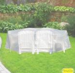 Komfort Schutzhülle für Sitzgruppe oval, 230 x 135 x 70 cm, transparent
