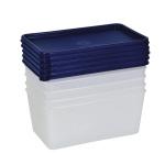 Gefrierdose, Aufbewahrungsdose, Frischhaltedose 0, 75 Liter 5er-Se