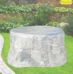 Komfort Schutzhülle für Tisch oval 160 cm, Möbelschutzhülle transparent