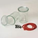 Einkochglas Weck Sturzform Rundrandglas Einmachglas 4 Stück á 0, 75 Liter