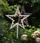 LED Deko Stern mit 20 LED´s Weihnachtsdeko Fensterdeko Dekoleuchte 38 cm batteriebetrieben