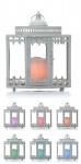 Schöne Laterne weiß mit LED-Beleuchtung, Batterie, Timer, Dekoration, Farbwechsel