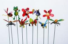 Niedliches 10er Set Gartenstecker, Gartendeko, Tierfiguren, Dekoration