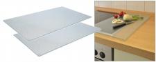 2er Set Ceranfeldabdeckung Schneidebrett Glasschneideplatten Herdabdeckplatten