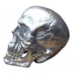 Totenkopf groß Skulptur XXL Skull Totenschädel Gothic Mystik silber Deko Schädel