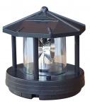 Ersatzkopf Solar für Deko Leuchtturm Rundum Leuchtfeuer Solarkopf 360° 11 cm