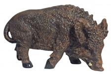 Dekofigur Werner das Wildschwein Eber Wildsau Keiler Gartendeko 22 cm