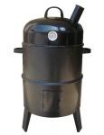 Grill- und Räucherofen BBQ Smoker Grilltonne Räuchertonne Holzkohlegrill Räuchergrill Smokertonne mit Thermostat