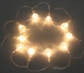 LED-Lichterkette mit 10 Kugeln, Batteriebetrieb, Weihnachtsdekoration, Ambiente