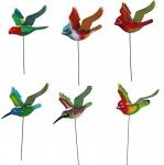 Niedliches 6er Set Gartenstecker Vögel, Gartendeko, Tierfiguren, Dekoration