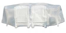 Schutzhülle für Sitzgruppe 230 x 135x 70 cm oval transparent Schutzabdeckung
