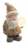 Dekofigur Weihnachtsmann mit LED-Kugel LED-Beleuchtung Weihnachtsfigur 22 cm NEU