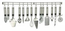 13tgl. Küchenhelfer Set mit Hängeleiste Küchenutensilien Küchenzubehör Edelstahl